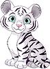 Weißes Tigerjunge