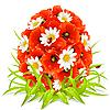 Frühling Blumen in Form von Ostereiern