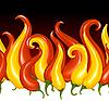 Paprika in der Gestalt des Feuers
