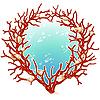 Рамка из красного коралла | Векторный клипарт