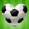 Ball für Fußball in der Form von Herzen