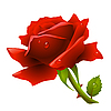 ID 3200754 | Rote Rose | Stock Vektorgrafik | CLIPARTO