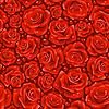 Красные розы - бесшовный фон | Векторный клипарт