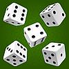 Белые игральные кубики - набор | Векторный клипарт