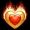 Schmuck in Form von Herzen in Brand