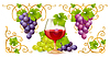 ID 3230037 | Grape Elemente, Ecken und Weinglas | Stock Vektorgrafik | CLIPARTO