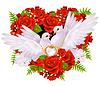 Rosen und Tauben