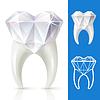 Зубы крепкие, как алмаз | Векторный клипарт