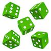 Grüne Würfel Set. Symbol