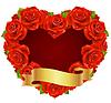 rote Rose Rahmen in der Form von Herzen
