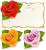Grußkarte mit Rose in der Form von Herzen