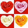 Rosen in Form von Herzen