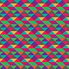 无缝三角几何五彩图案 | 向量插图