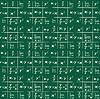 Бесшовный фон с элементами математики | Векторный клипарт