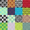 Набор абстрактных бесшовных узоров | Векторный клипарт
