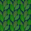 Nahtlose Blätter-Muster auf dunkelblauem Hintergrund