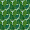 无缝树叶图案两层 | 向量插图