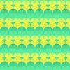 Nahtlose abstrakte geometrische Muster grün und gelb