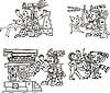 Alte aztekische Piktogramme | Stock Vektrografik