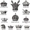 Różne korony Szlachectwo zobowiązuje | Stock Vector Graphics