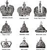 Russische Kaiser- und Zar-Kronen | Stock Vektrografik
