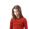 Sad uczesane dziecko dziewczyna | Stock Foto