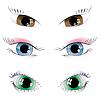 Zestaw pomalowanych oczu | Stock Vector Graphics