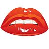 gezogen sexy Lippen