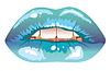sexy blaue gefrostete Lippen