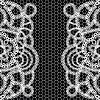 Czarne tło z koronką | Stock Vector Graphics