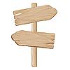 Drewniany wskaźnik | Stock Vector Graphics
