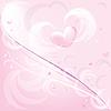 粉红色的浪漫背景 | 向量插图