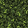 Bez szwu tapety. Zielona roślinność powtórzenie schematu | Stock Vector Graphics