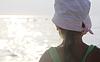 Girl looks at sea | Stock Foto