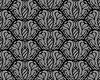 Czarne i szare dekoracyjne bez szwu kwiatowy wzór | Stock Vector Graphics