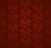 Kwiatowy ornament bez szwu czerwony | Stock Vector Graphics