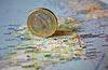 ID 3228114 | Ирландская монета евро на карте | Фото большого размера | CLIPARTO