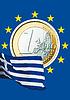 ID 3228117 | Монета евро и греческий национальный флаг | Фото большого размера | CLIPARTO