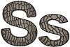 ID 3235239 | Alligator Haut font S Klein-und Großbuchstaben | Illustration mit hoher Auflösung | CLIPARTO