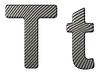 ID 3236389 | Czcionki z włókna węglowego T małe i duże litery | Stockowa ilustracja wysokiej rozdzielczości | KLIPARTO