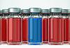 Prawo decyzji medycznych: grupa ampułkach | Stock Foto