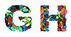Czcionki medycznych G i H litery pigułki | Stock Foto