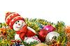 ID 3292849 | Weihnachten kommt - Funny weißer Schneemann und Dekoration | Foto mit hoher Auflösung | CLIPARTO