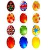 다른 부활절 달걀의 집합 | Stock Vector Graphics