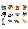 ID 3234812 | Zestaw różnych zwierząt leśnych | Klipart wektorowy | KLIPARTO