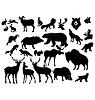 Zestaw różnych zwierząt leśnych | Stock Vector Graphics