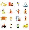 Der große Satz von Symbolen der Arbeitnehmer | Stock Vektrografik