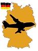 Flug nach Deutschland