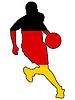 Basketballspieler  in Farben Deutschlands