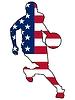 Basketball Farben der Vereinigten Staaten